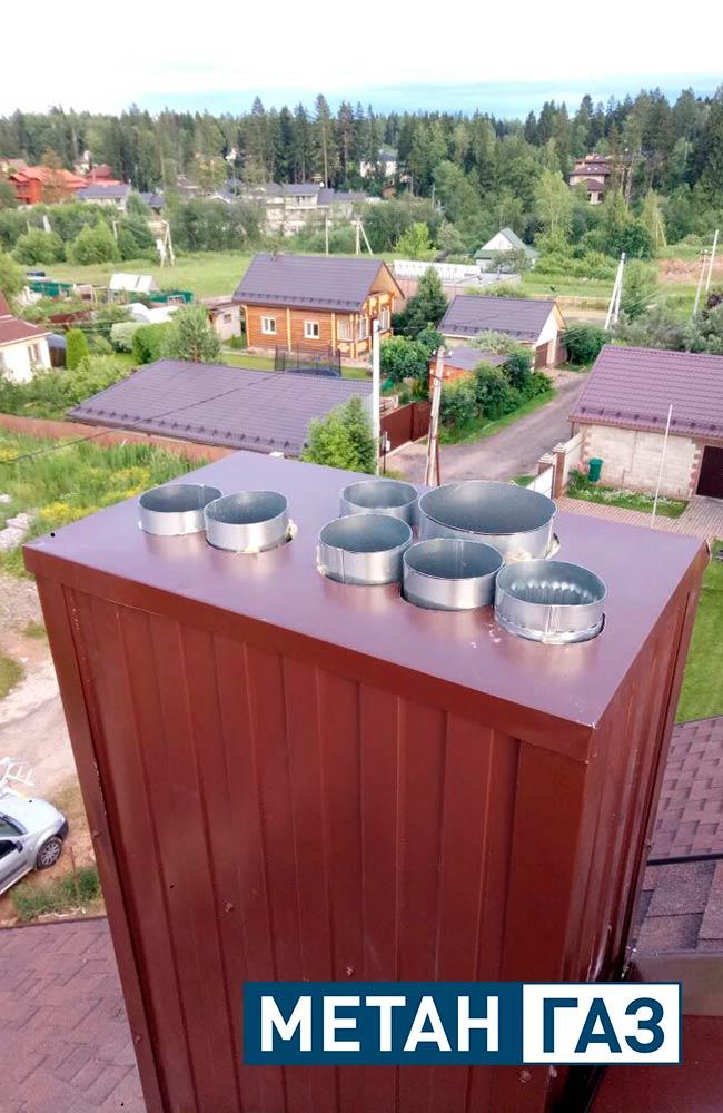Фото Примеры работ по установке дымоходов и вентиляции - 3